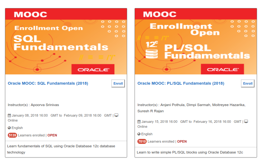 Oracle SQL and PL/SQL video courses