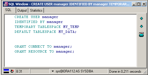 creating user manager